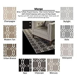 2\'x3\' Cityscape - MERGE - Custom Carpet Area Rug - 40 Oz. Tufted, Pinpoint Saxony - Nylon by Milliken by Milliken (9 Colors to Choose From)