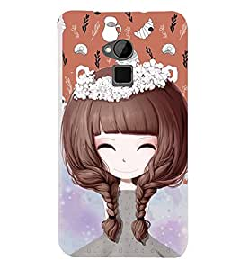 Fuson Premium Beautiful Girl Printed Hard Plastic Back Case Cover for HTC One Max