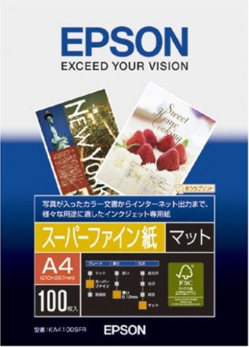 A4 100 sheets KA4100SFR EPSON Super Fine paper