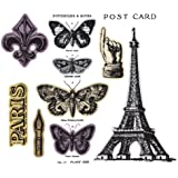 Sizzix Framelits Dies with Clear Stamps by Tim Holtz, French Flight
