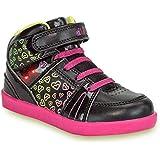 diMio -Lea- Stylische Kinderschuhe/Halbschuhe für Mädchen mit Blinkfunktion in schwarz/pink