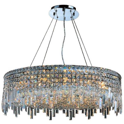 Worldwide Lighting W83604C32 Cascade 18 Light Chrome Finish With Clear Crystal Chandelier