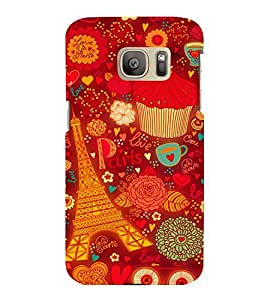 printtech Paris Chocolate Gift Back Case Cover for Samsung Galaxy S7 :: Samsung Galaxy S7 Duos with dual-SIM card slots