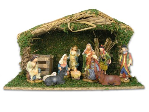 Nativity Set With Creche 11 Figurines