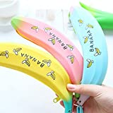 Katoot@ Creative banana pencil case for girls Kawaii Silicone green onions pen pouch Storage bags cute stationery office school supplies