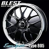 BLEST ユーロスポーツ タイプ 805 アルミホイール(1本) 15x5.0 +45 100 4穴(セミグロスブラック) / EuroSport Type 805 15インチ
