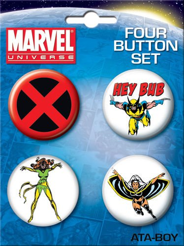 Marvel Comics X-Men 4 Piece Button Set