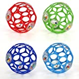 Rhino Toys Oball with Rattle - Colours may vary