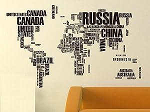 Muke® Árbol colorido de la flor pegatinas de pared piso búho del bebé, pegatinas adorables vivero pared removible / pegatinas de pared / decoración de la paredFondo de la correspondencia del sofá TV de fondo Inglés mundial mapa del mundo mapa del m