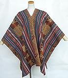 ペルー ポンチョ マンタ 民族織物 インカ アルパカ PO-E01