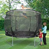 Plum Products Kids Magnitude Trampoline and 3G Enclosure - Black, 8 Ft