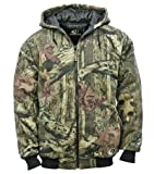 Mossy Oak Men's Insulated Quilted Fleece Hooded Jacket, Infinity, Medium