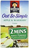 Quaker Oatso Simple Apple and Blueberry Porridge 360 g (Pack of 6)