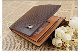 Light Coffee Mens Leather Wallet Purse Money Clip Billhold by Jiyi