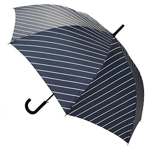 【晴雨兼用】 長傘 ジャンプ傘 ストライプ 65cm MSL-002