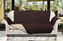 Furniture Protectors Reversible The Original Sofa Protect (Chocolate/Tan, Sofa)