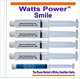 Watts Power 35% Dual Action Teeth Whitening Gels Huge 10ml - 4 Huge 10ml Gels Plus Aftercare Gel - Optimized OTC Dual Action for Surface and Deep Stains for Quick Results - Made in the USA - Kosher