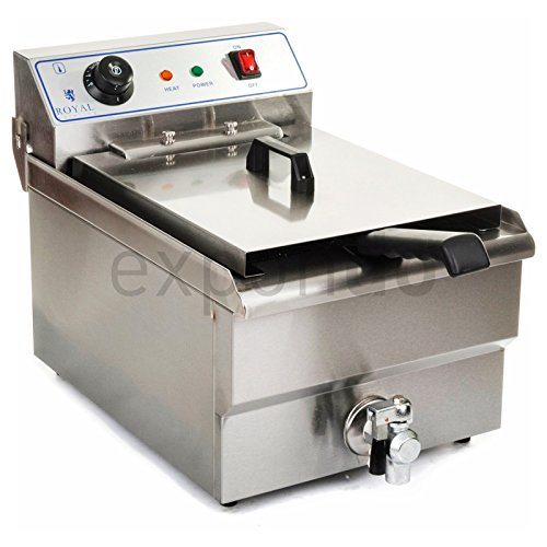 Royal Catering - RCEF-13EH - Friteuse électrique de 1x13 litres - 100 % acier inox - 3,2 kW