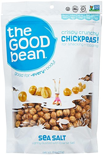 The Good Bean Chickpea Snacks, Sea Salt, Gluten and Nut Free, 2.5-Ounce (Pack of 6) (Chick Peas Roasted compare prices)
