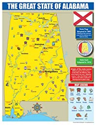 Gallopade Publishing Group Alabama State Map for Students - Pack of 30 (9780635106285)