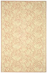 "5'6"" x 8'6"" Rectangular Oscar Isberian Rugs Area Rug Blossom Color Hand Hooked China ""Martha Stewart Collection"" Art Moderne Design"