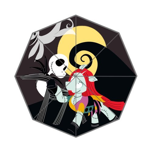 "Anhome Nightmare Before Christmas Cartoon Dog Skull And Moon Auto Folding Foldable Umbrella 25.6""X 21.7""X 13.8"" front-977100"