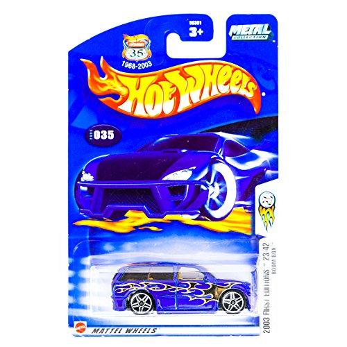 2003 First Editions -#23 Boom Box Dark Blue #2003-35 Collectible Collector Car Mattel Hot Wheels