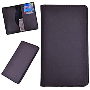 DCR Pu Leather case cover for Micromax canvas silver 5 Q450 (brown)