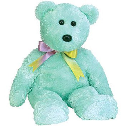 TY Beanie Buddy - SHERBET the Bear (Aqua Version) - 1