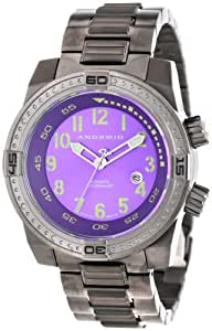Android Men's AD659BKPU Frontline Miyota 9015 Automatic Ion-Plated Gunmetal Internal Turning Bezel Watch