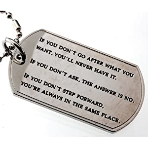 inspirational quotes dog tag pendant if you don 39 t go after