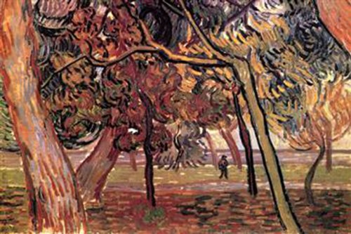 Walls 360 Peel & Stick Wall Decals: Study of Pine Trees by Vincent Van Gogh (36 in x 24 in)
