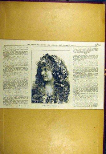 1882 Portrait Julia-Feyghine Sporting Dramatic News