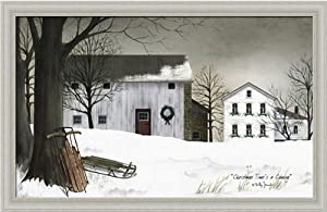 Christmas Time's a Coming by Billy Jacobs Snow Scene Americana Landscape 22x14 in Framed Art Picture