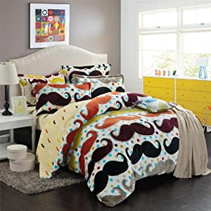 Amazon.com - DIAIDI Home Textile, Cute Mustache Bedding Set ...