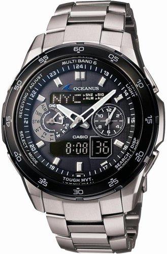 CASIO (カシオ) 腕時計 OCEANUS オシアナス TOUGH MVT タフムーブメント タフソーラー 電波時計 MULTIBAND6 OCW-T400TB-1AJF メンズ