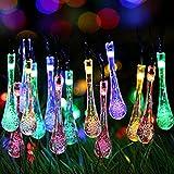C-DQS ハロウィン イルミネーション レストラン バー ホーム LED 屋外室内装飾 夜間 イルミネーション ツリー 電飾 フェアリーストリングライト クリスマス 結婚式 パーティデ コレーション (水滴型(フルカラー))