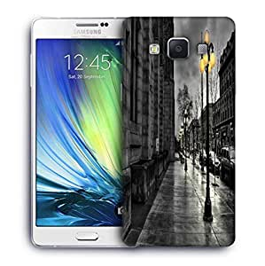 Snoogg Night At Street Designer Protective Phone Back Case Cover For Samsung Galaxy A7