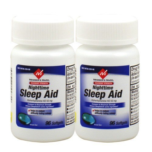 Member's Mark Maximum Strength Sleep Aid – 2/96 SoftGels – Total 192