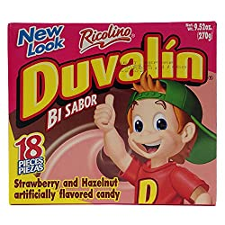 Duvalin Strawberry & Hazelnut Mexican Sweet Candy Creams 18 Pcs 9.52 Oz (2 Pack)