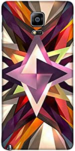 Snoogg Star Shreds 2702 Case Cover For Samsung Galaxy Note Iiii / Note 4