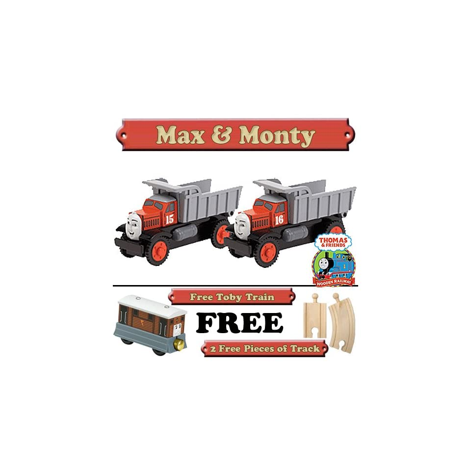 Max Monty From Thomas The Tank Engine Wooden Train Set Free 2