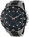 U.S. Polo Assn. Sport Men's US8170 Black and Gunmetal Ana-Digi Bracelet Watch
