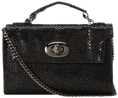 Whiting & Davis Mini Bag 1-4146BK,Black,One Size