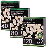 LED-Lichterkette mit 40, 80 oder 120 warm-weißen LED, Innen- und Außenbereich