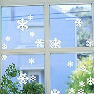 Christmas Snowflake Window Glass Wall Art Sticker Decal Film Decor