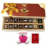 Valentine Chocholik Premium Gifts - Sweetest Creation Of Chocolates And Truffles Treat With Teddy And Love Card
