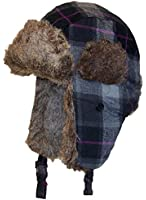 Angela & Williams Tartan Plaid Russian/Trooper W/Faux Fur Winter Hat (One Size)
