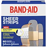 Band-Aid Comfort-Flex Adhesive Bandages, Sheer, Assorted, 60 ct