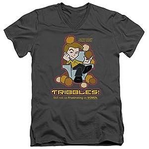 Star Trek Quogs Cartoon TV Series Kirk Not As Frustrating Adult V-Neck T-Shirt